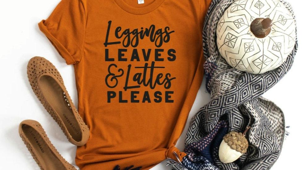 Leggings, Leaves & Lattes Sweatshirt