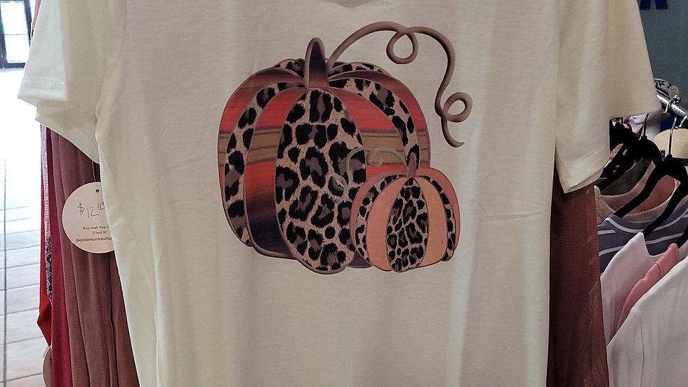 Patterned Pumpkin T-shirt