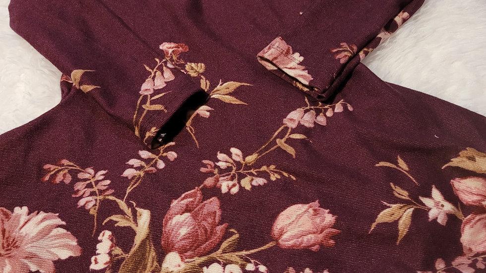 Purple Floral Twirl Dresd