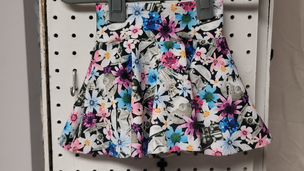 Floral Star Wars skirted Bummie 3-6 months