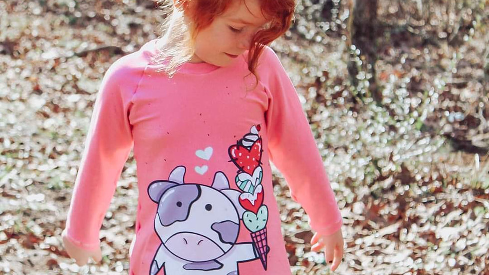 Valentines Cow Sweater
