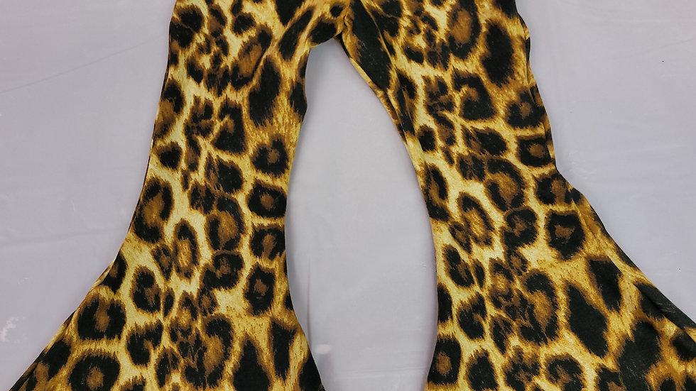 Leopard Print Flare Bottoms