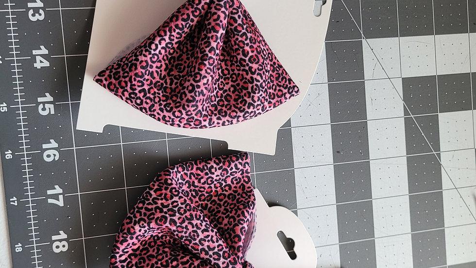 Pink Loepard Bow