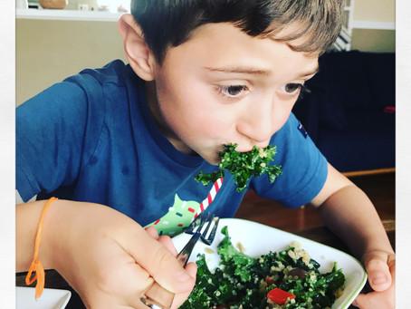Kale, Quinoa & Grape Salad!