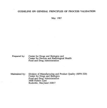 PRIMER GUÍA DE VALIDACIÓN FDA