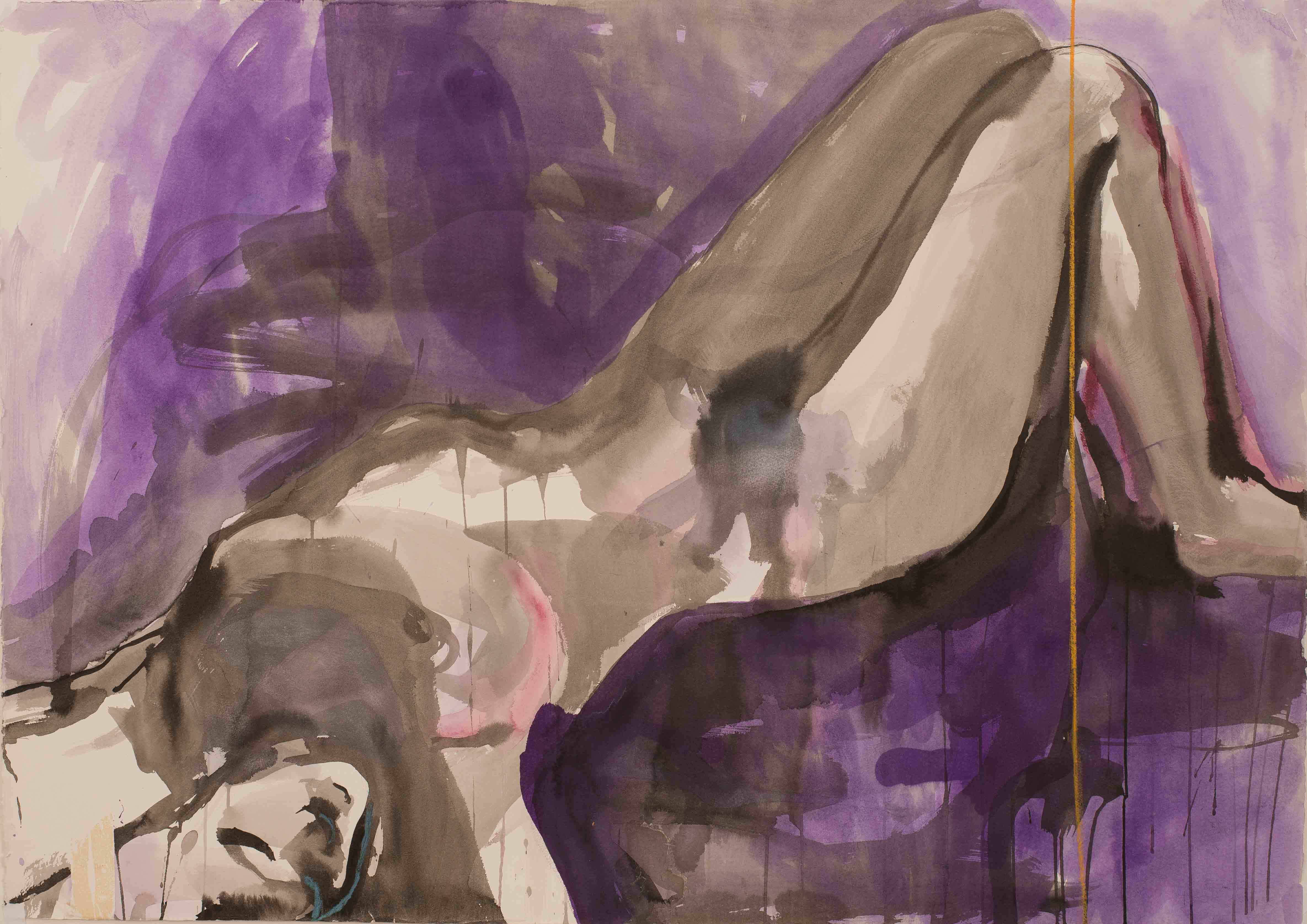 Woman in violet