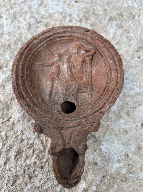 Romeinse olielamp met Viktoria