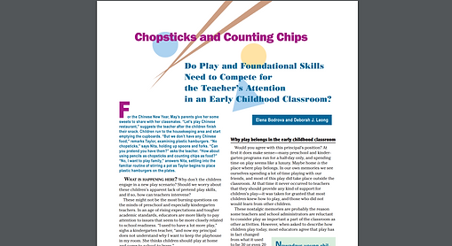 Chopsticks and Counting Chips article