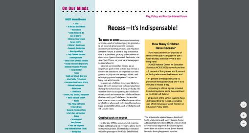 Recess Article