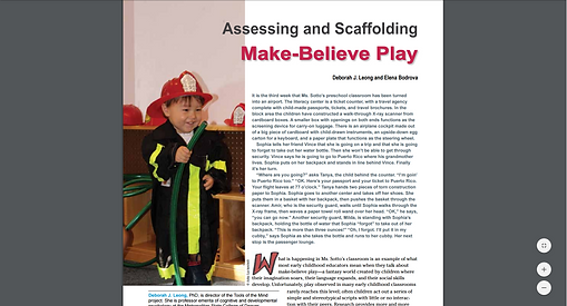 Make-Believe Play article