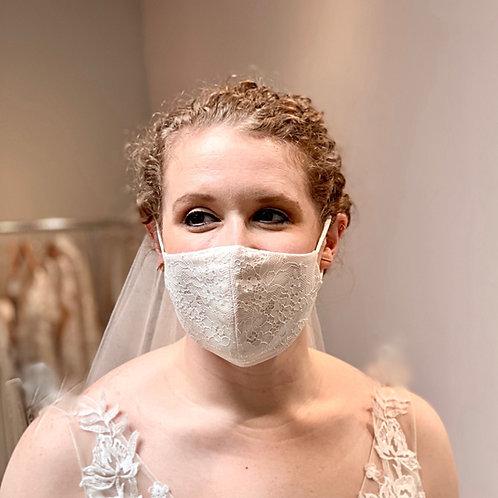 Blush French (Chantilly) Lace Mask