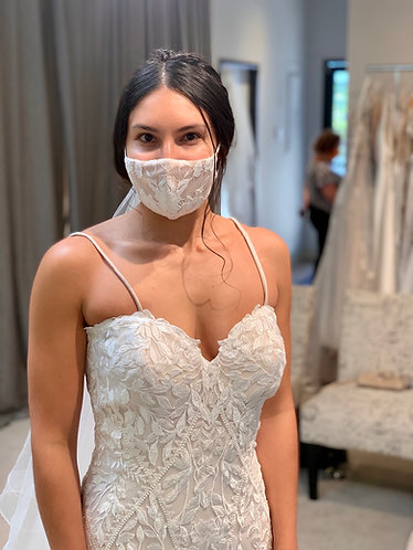 Nude boho lace mask