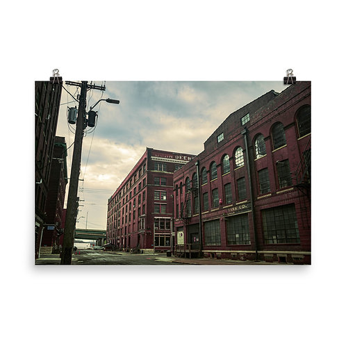 Poster of Old Buildings in the West Bottoms of Kansas City