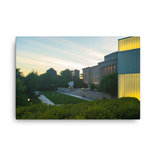 Canvas of the Outside of the Nelson-Atkins