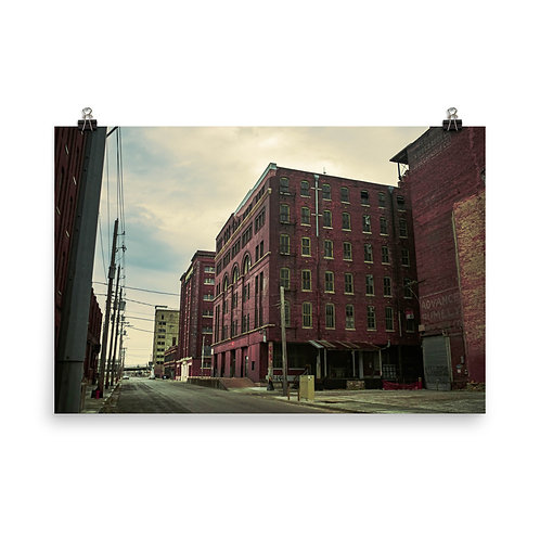 Poster of a few Old Buildings in the West Bottoms of Kansas City
