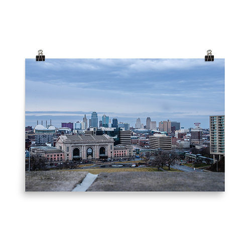 Poster of the Kansas City Skyline from the World War One Museum