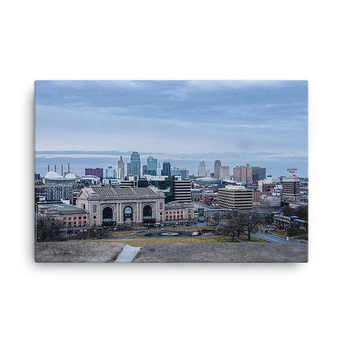 Canvas of the Kansas City Skyline from the World War One Museum