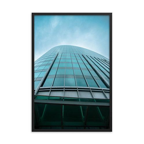 Framed poster of the Outside of a Glass Skyscraper in Kansas City