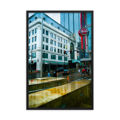 Framed poster of Outside of the Midland Theater