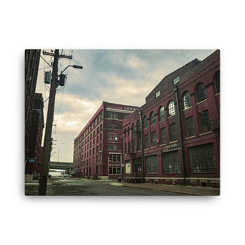 Canvas of Old Buildings in the West Bottoms of Kansas City