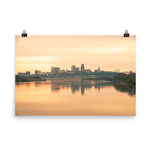 Poster of the Kansas City Skyline from Kaw Point