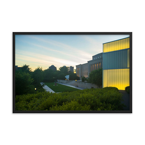 Framed poster of the Outside of the Nelson-Atkins