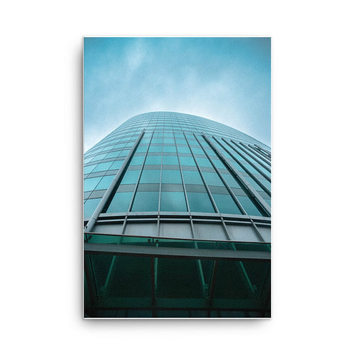 Canvas of the Outside of a Glass Skyscraper in Kansas City