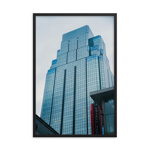 Framed poster of the Outside of the One Kansas City Place Building