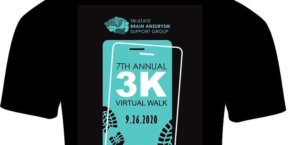7th Annual Tri-State Brain Aneurysm VIRTUAL 3K Walk
