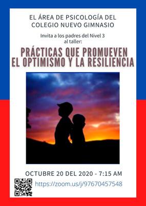 Martes 20 de octubre, 7:15 a.m. - Invitación al taller para padres N3