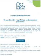 Invitación a Conferencia virtual: #ConectadosParaCuidarnos - Red Papaz