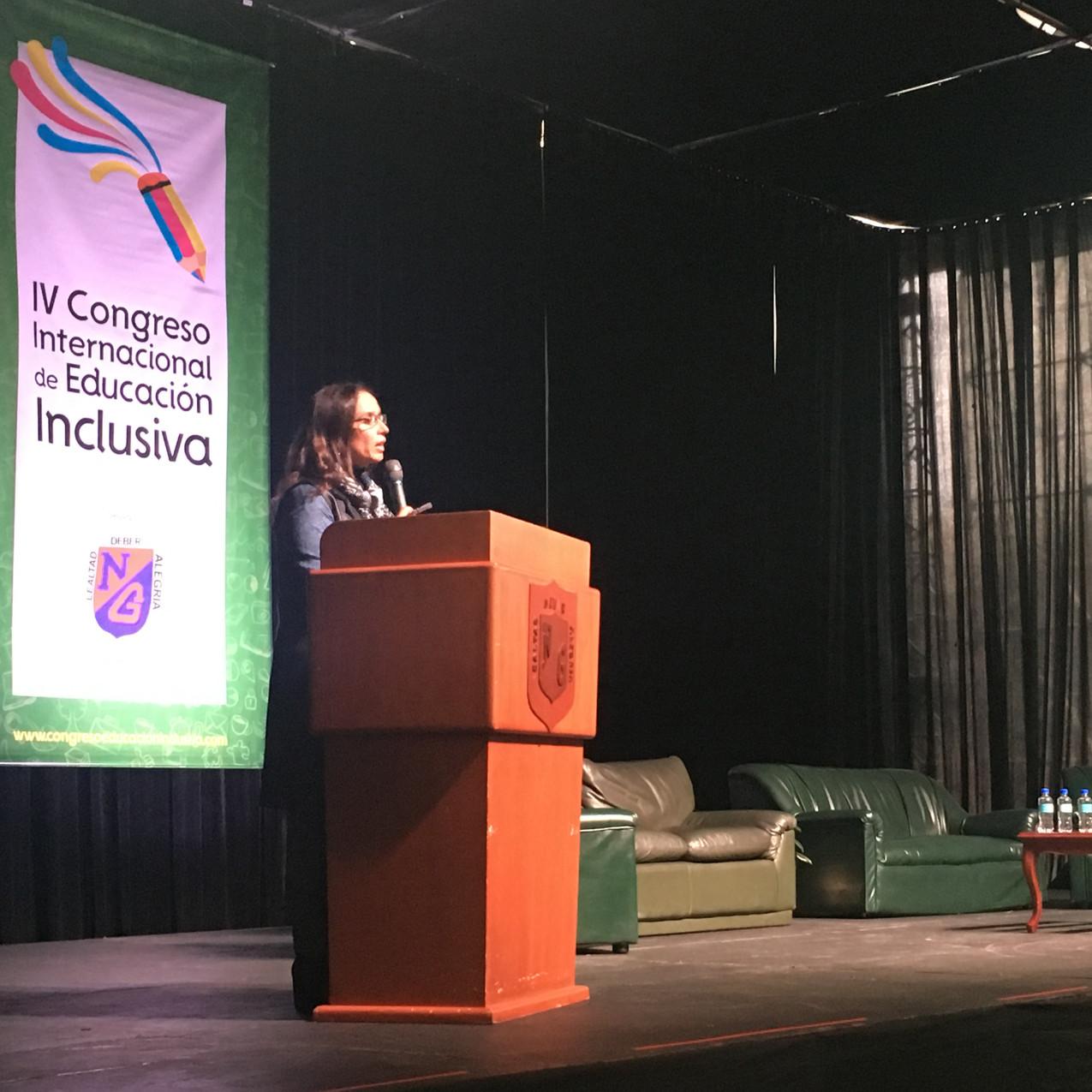 María Consuelo Araújo. Apertura Congreso Internacional de Educación Inclusiva.  Ex ministra de Cultura, Ex ministra de Relaciones Exteriores. Actualmente Secretaria de Integración Social.