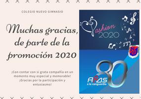 Agradecimientos Fashion Prom 2020