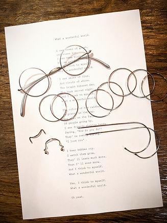 一山 サンプラチナ製の眼鏡です。めがね修理いたします。 松屋銀座・高畑めがね工房 関西・奈良・京都・大阪 オーダー眼鏡