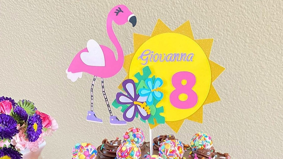 Cool Flamingo Cake Topper