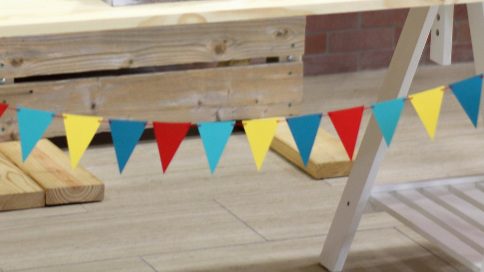 Carnival Circus Triangle Bunting Flag Banner