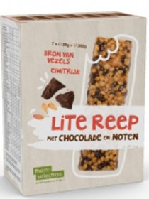 Lite bar chocolade&noten maaltijdreep (7 zakjes) - #0326