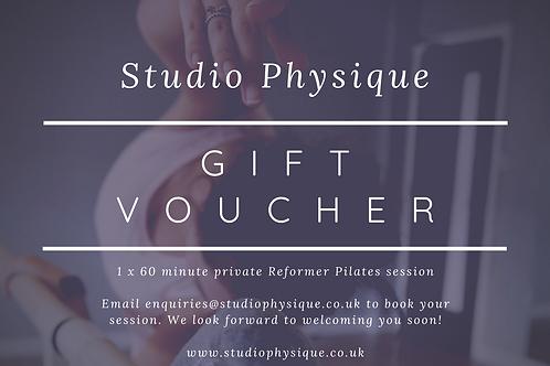 Private Reformer Pilates Gift Voucher