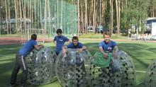Бампербол в детском лагере