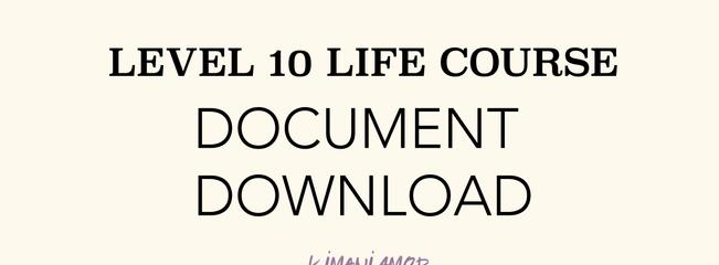 Level Ten Life - iPhone Document Download