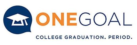 Blue and orange One Goal logo