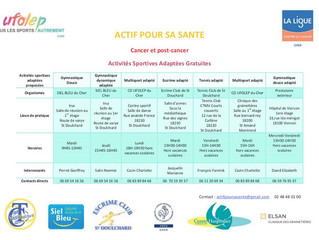 Activités physiques adaptées dans le cadre du cancer