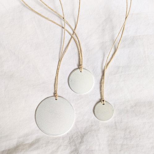 silver disc pendant necklace | bracelet