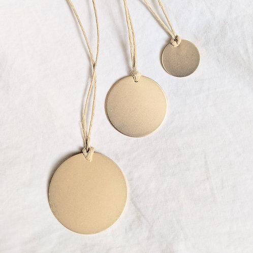 gold disc pendant necklace | bracelet