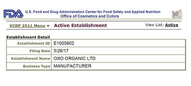אוקסו אישור FDA .png