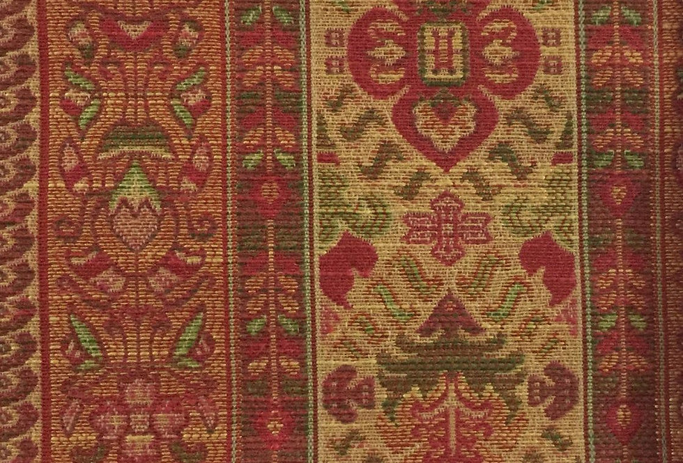 Red, Gold, and Green Suzani Stripe