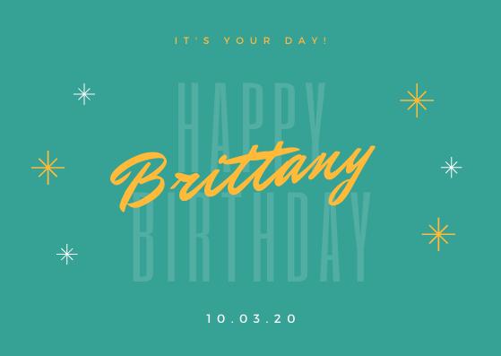 Happy Birthday Brittany!