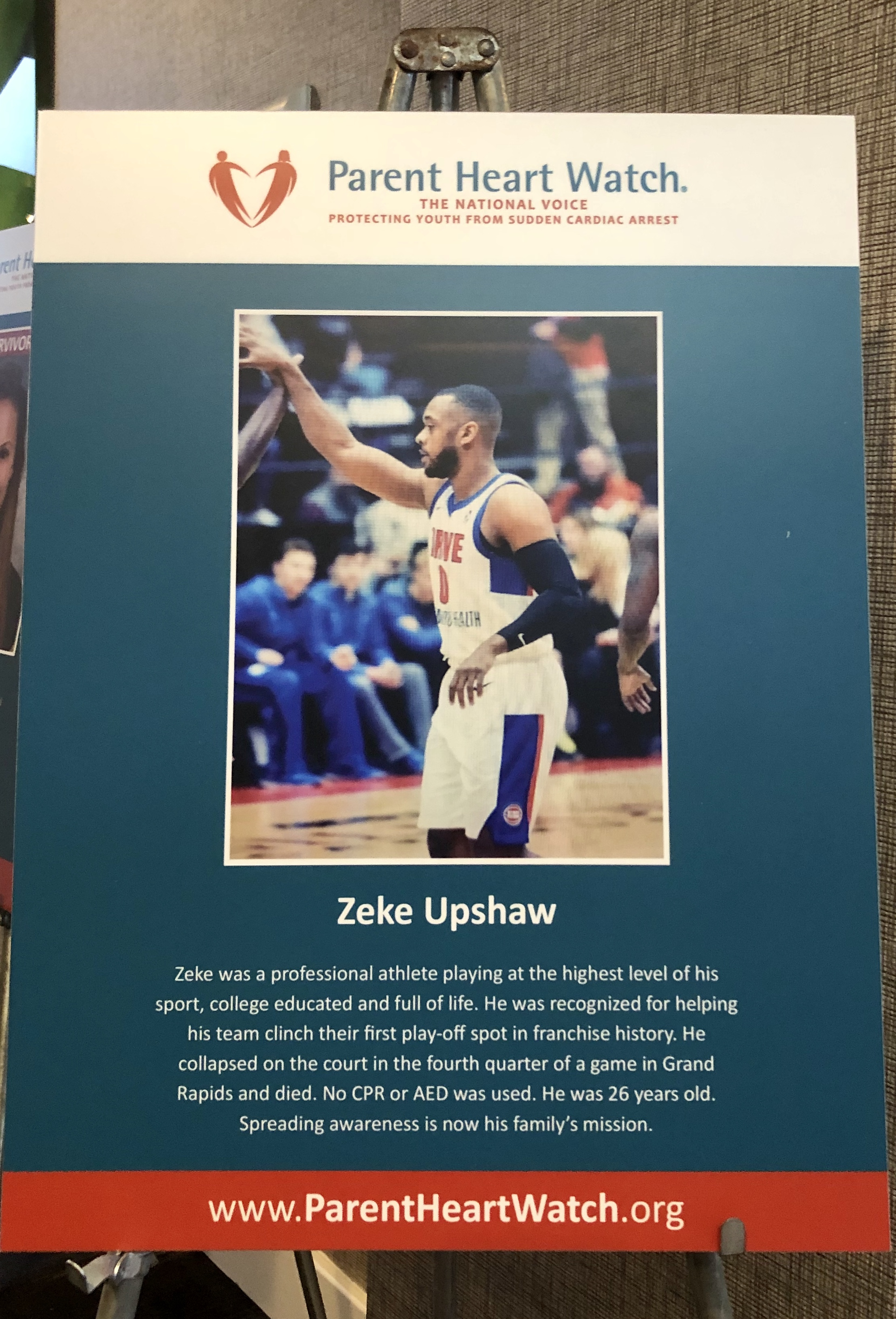 Zeke's poster at PHW