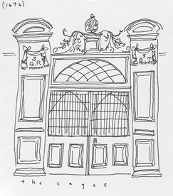 the cage at Marsh's Library