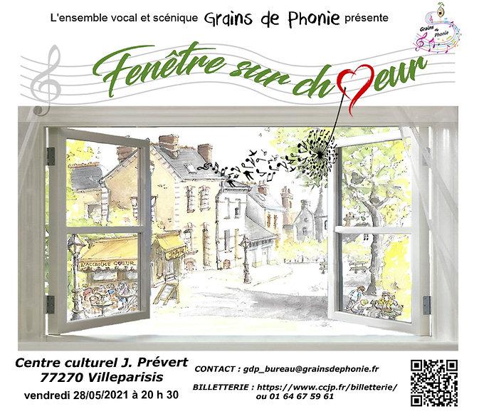 Affiche - Fenêtre sur choeur (Villeparis